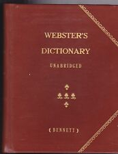 1855- AMERICAN DICTIONARY OF THE ENGLISH LANGUAGE. By Noah Webster. 3rd Edition