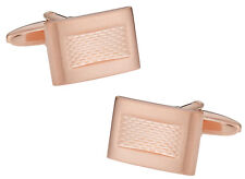 Brushed Burnout Rose Gold Cufflinks Direct from Cuff-Daddy