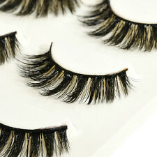 Handmade 100% Real Mink Luxurious Natural Thick Soft Lashes False Eyelashes U87