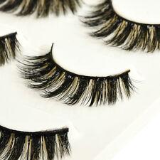 Luxurious 100% Real Mink Handmade Natural Thick Soft Lashes False Eyelashes U87