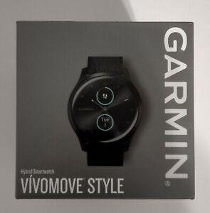 Garmin vívomove Style 42mm Graphite Aluminum Case with Black Pepper Woven Nylon…