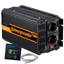 Inversor 2000W 12V 220V Inverter Convertidor 4000W Control Remoto 2.1A USB