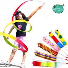 Dance Ribbon Art Gymnastic Rhythmic Ballet Streamer Twirling Rod 4M W8H