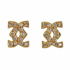 DIAMOND EARRINGS GENUINE 18K 750 GOLD 28 STONES IN SMALL STUDS GIFT BOXED NEW