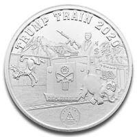 Donald J. Trump MAGA Trump Train 2020 1 oz .999 Fine Silver Round Silver Coin