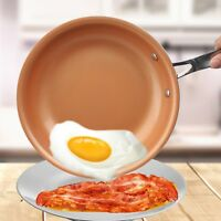 Ceramic Pan Non-stick Skillet Copper Red Induction Skillet Frying Pan Saucepan