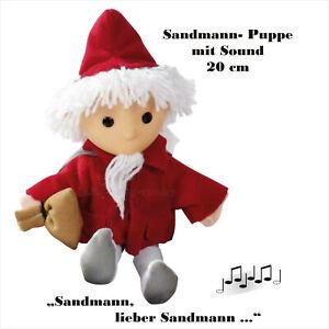 """SANDMANN - PUPPE MIT SOUND """"SANDMANN-LIED""""  20cm  - DDR - KULT"""