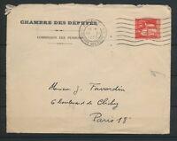 1935 Lettre 50c paix obl PARIS 31 CHAMBRE DES DEPUTES TB. N1818