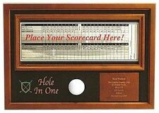 Scorecard Display Hole In One Ball Trophy Engravable Memory Golf Wood Plaque NEW