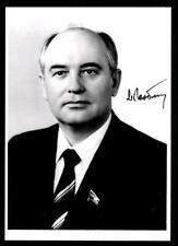 Michail Gorbatschow Autogrammkarte Präsident Russland TOP