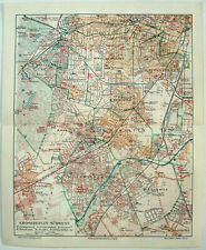 Greater Berlin Southwest - Original 1913 City Map by Meyers. Germany. Antique