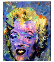 Marilyn Monroe Art Canvas Painting or Photo Print Abstract Andy Warhol Artwork