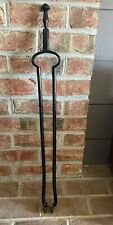 "Vintage 30 1/2""  Heavy Wrought Iron Log Firewood Tongs Fireplace Blacksmith Tool"