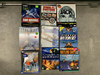 Lot of Nine (9) Rare Action/Fantasy/Puzzle Big Box PC Games - New and Used