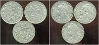 serie complete  de  pieces 25 centimes PATEY  1903  4 5