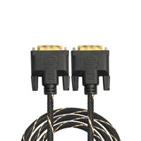 Digital Monitor Video DVI 24+1 Male to Male Cable LCD Dual Link TV Cable Cord