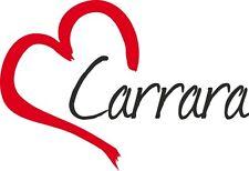 Auto Aufkleber CARRARA Sticker Stadt Italien ca.9x13cm konturgeschnitten