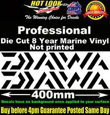 Daiwa 2 stickers 400mm Wide for Electric Fishing Reel Boat Tandem Trailer fridge