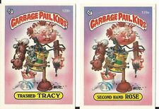1986 Garbage Pail Kids Series 4 Lot of Two: Second Hand Rose Trashed Tracy 129ab