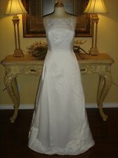 NWT Jessica McClintock WHITE Wedding Dress Fully Embroidered Floral Low Price 4