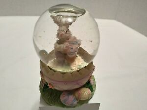 Snow Globe Bunny Rabbit with Easter Egg