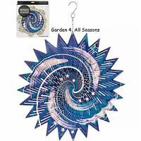 "12""/30cm GALAXY Stainless Steel Wind Spinner Sun Catcher Hook Garden Gift Pack"