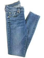 7 for all mankind Ankle Skinny Medium Wash Low Rise Jeans Size 25x27