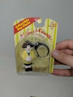Wallace & Gromit Key Chain Figure Sealed On Card Wendolene VTG Toy 80s 90s