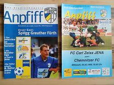 2 Programme FC CARL ZEISS JENA - GREUTHER FÜRTH (DFB-Pokal), CHEMNITZER FC 1999
