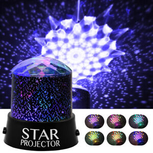 LED Projector Starry Night Light Star Sky Light Baby Kids Bedside Lamp Bedroom