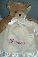 Teddy Bear Brown  Animal Snuggler Personalized Security Blanket Baby Blankie