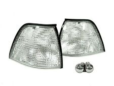 DEPO 92-99 BMW E36 3D / 4D Sedan Euro Clear Corner Signal Lights + Chrome Bulbs
