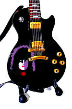 Miniature Guitar PAUL STANLEY with stand & strap. KISS '78 Solo Album cover