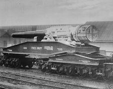 German Military Krupp Artillery Railroad Gun World War I WWI 8x10 Photo
