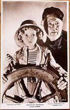 Shirley Temple 1930s Realphoto Movie Star Postcard: Captain January, Guy Kibbee