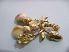 Ancien grand pendentif de chasse or 18 carats dents de cerf vénerie trophée
