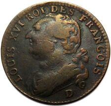 12 Deniers 1793 D - FRANCE