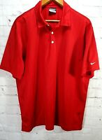 Nike Golf Dri Fit Polo Red Light Weight Mens Shirt Size Large- outdoors fun-(F)