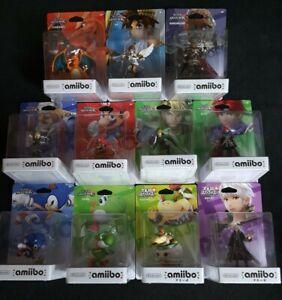 *NEW* Smash Bros Amiibo Original Full Set Lot 62 Amiibo, immaculate condition.