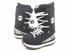 THIRTY TWO MEN'S HERITAGE SNOWBOARDING BOOTS,BLACK/WHITE/GUM US SIZE 5,EUR 37