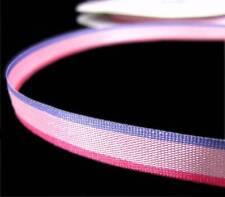 "5 Yds Pink Purple Striped Ribbon 3/8""W"
