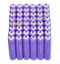 48x AAA 1800mAh 3A 1.2 V Ni-MH Purple Rechargeable Battery Cell for MP3 RC Toys