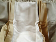 Stunning Laura Ashley Navona Gold Stripe curtains rrp £568 150cm wide