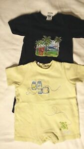 Gap Cherokee Boys Lot of 2 One Piece Short Outfits Size 3-6 Months