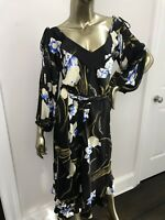 Tracy Feith Silk Floral Print Dress Beautiful!! Size Petite