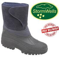 Stormwells Mens Women Alpine Waterproof Fleece Wellies Thermal Wellington Boots