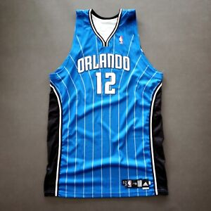 100% Authentic Dwight Howard Adidas Magic 09 10 Game Worn Signed Jersey - used