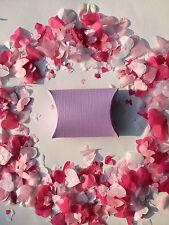Biodegradable Confeti de boda morado lila Cajas Corazones & Mariposas