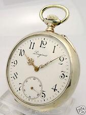 LONGINES 800er SILBER TASCHENUHR CHRONOMETER GRAVUR- ca.107,30 g -ca. 53,5 mm