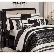 New PRIVATE COLLECTION ANGELINA IVORY QUEEN Quilt/Doona Cover Set RRP $279.95